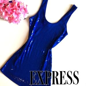 Express Tank Top Basic Sexy Sequined